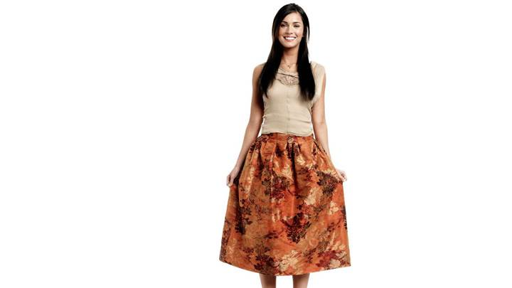 Megan Fox Cute Laughing Face In Long Skirt Top N White Background